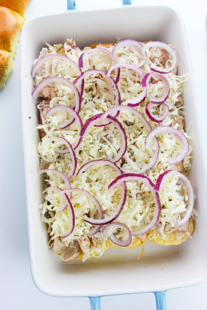 Easy Chicken Sliders red onion