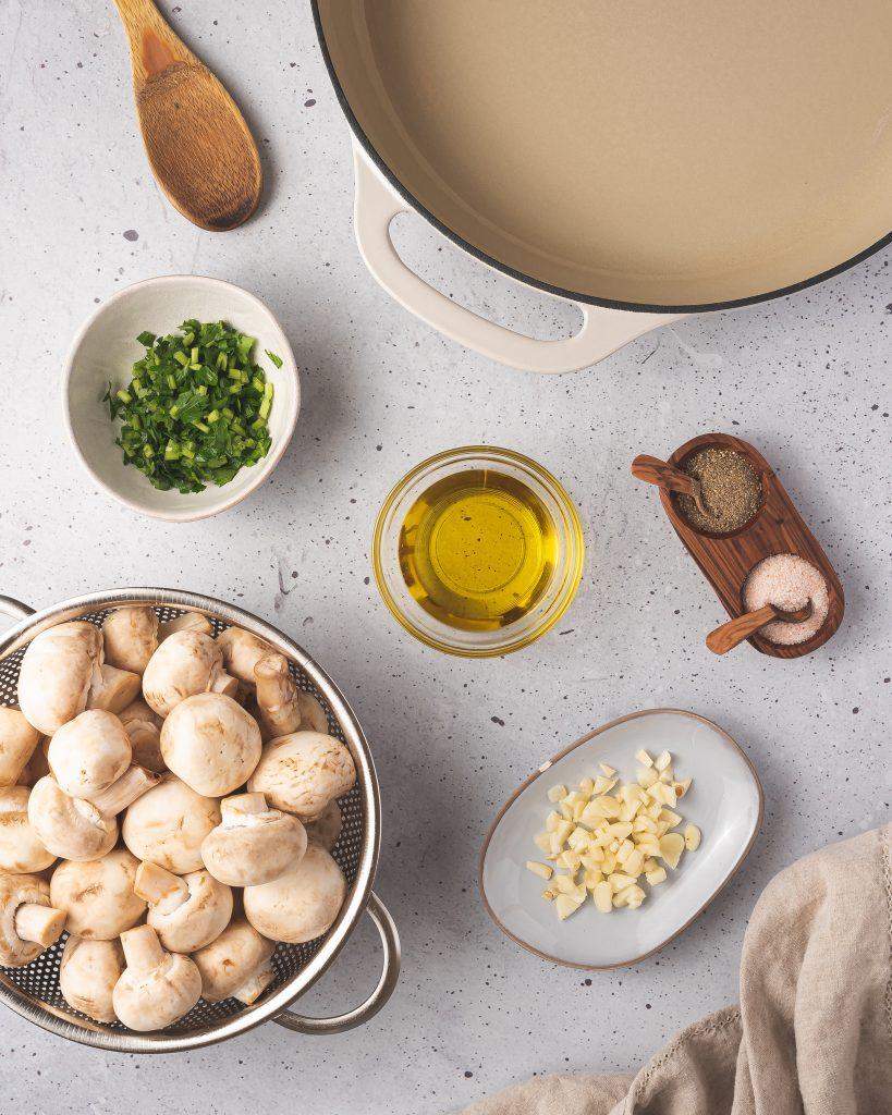 Garlic Sautéed Mushrooms ingredients