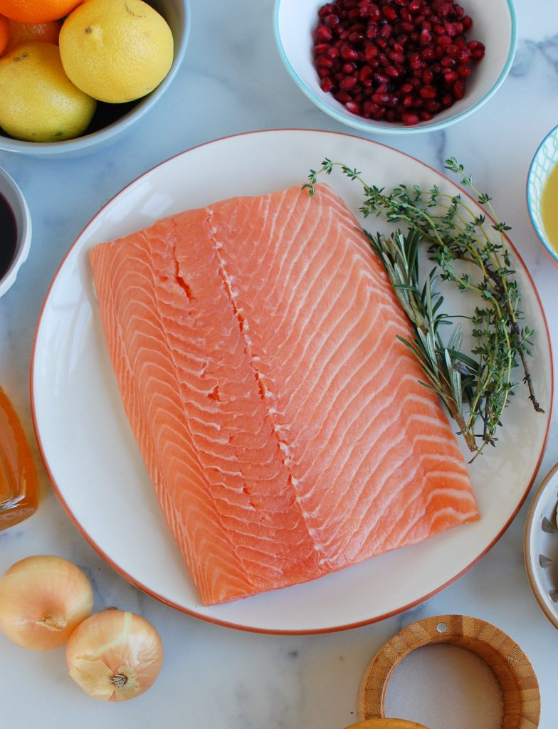 Honey Glazed Pomegranate Salmon ingredients
