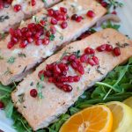 Honey Glazed Pomegranate Salmon