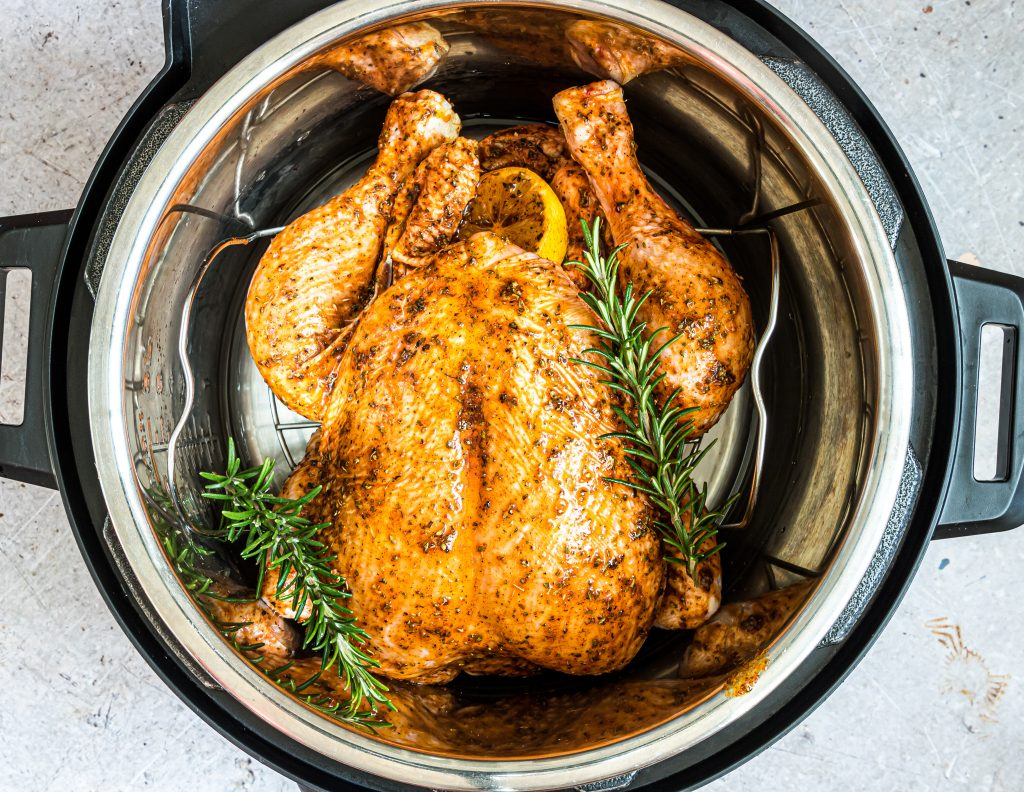 Instant Pot Rotisserie Chicken in an instant pot