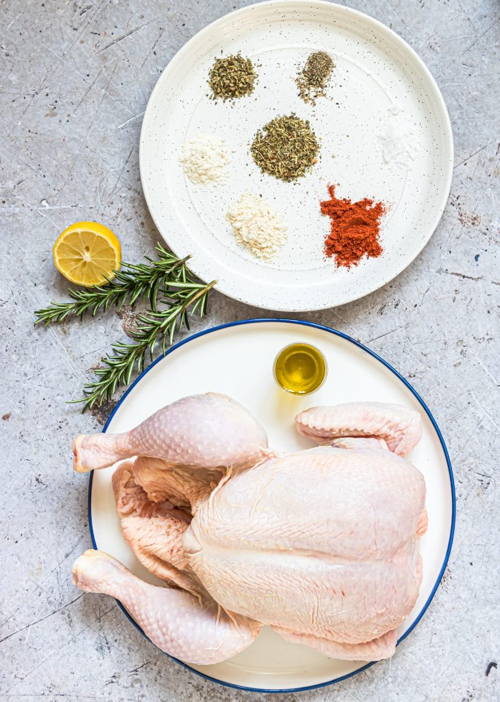 Instant Pot Rotisserie Chicken ingredients