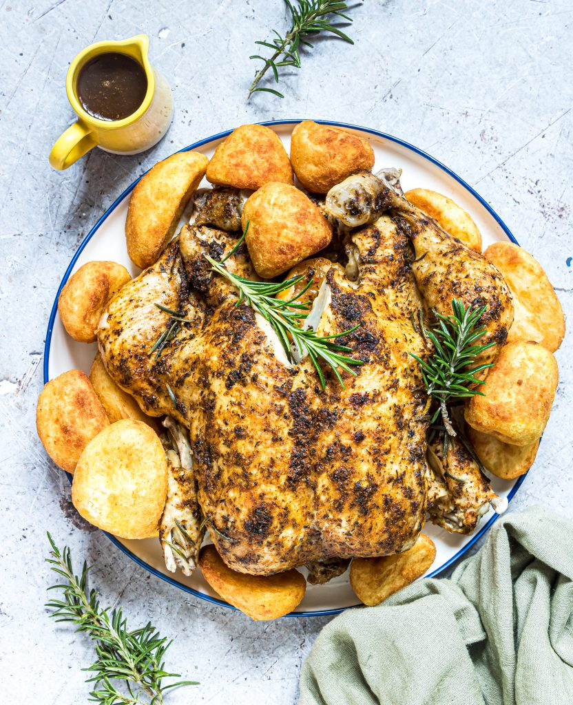 Instant Pot Rotisserie Chicken with rosemary