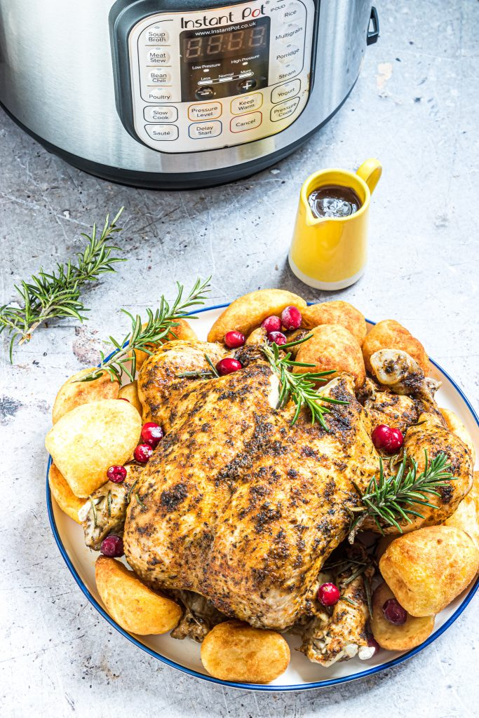 Instant Pot Rotisserie Chicken with the instant pot