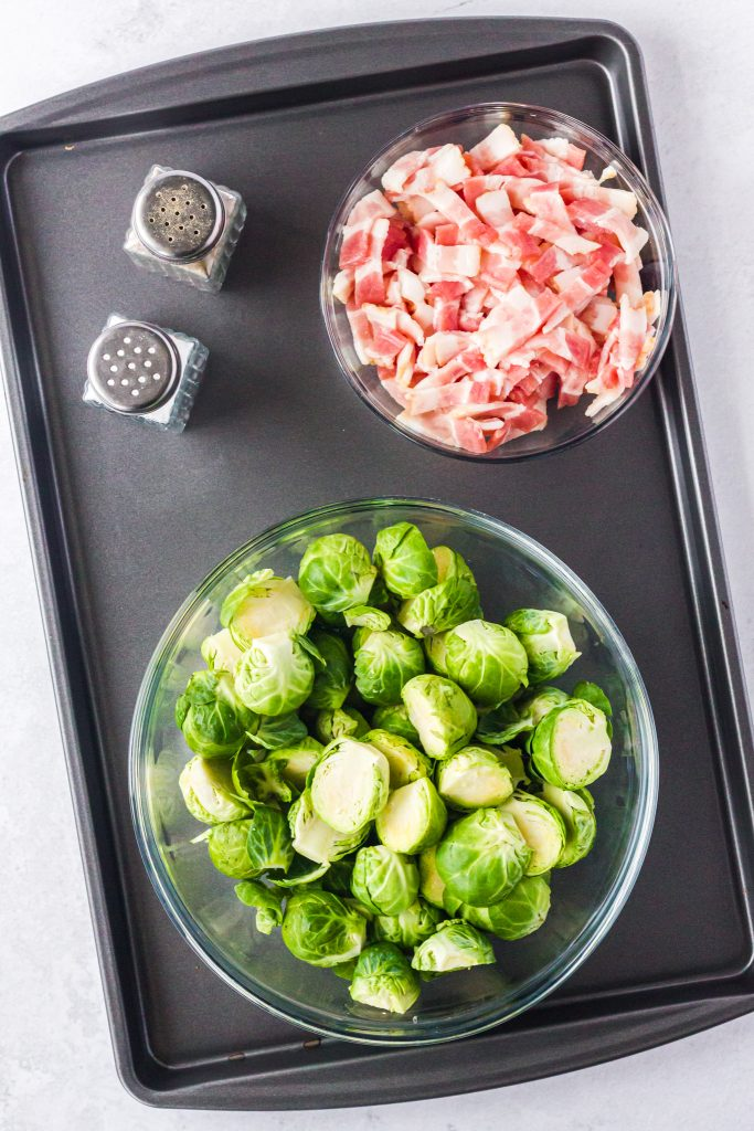 Roasted Brussels Sprouts with Bacon ingredients