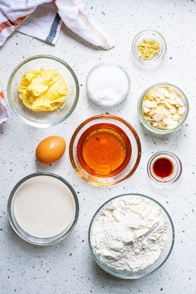 Almond Cake Recipe ingredients