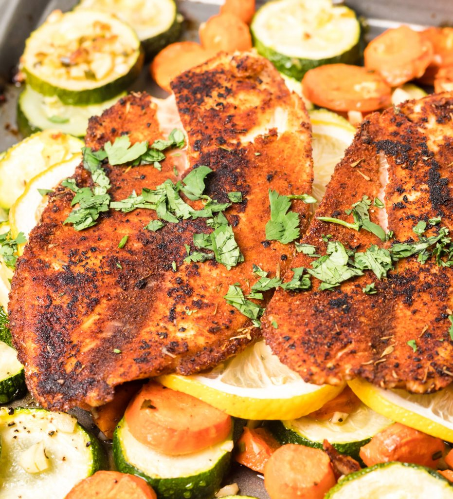 Easy Blackened Fish with cilantro