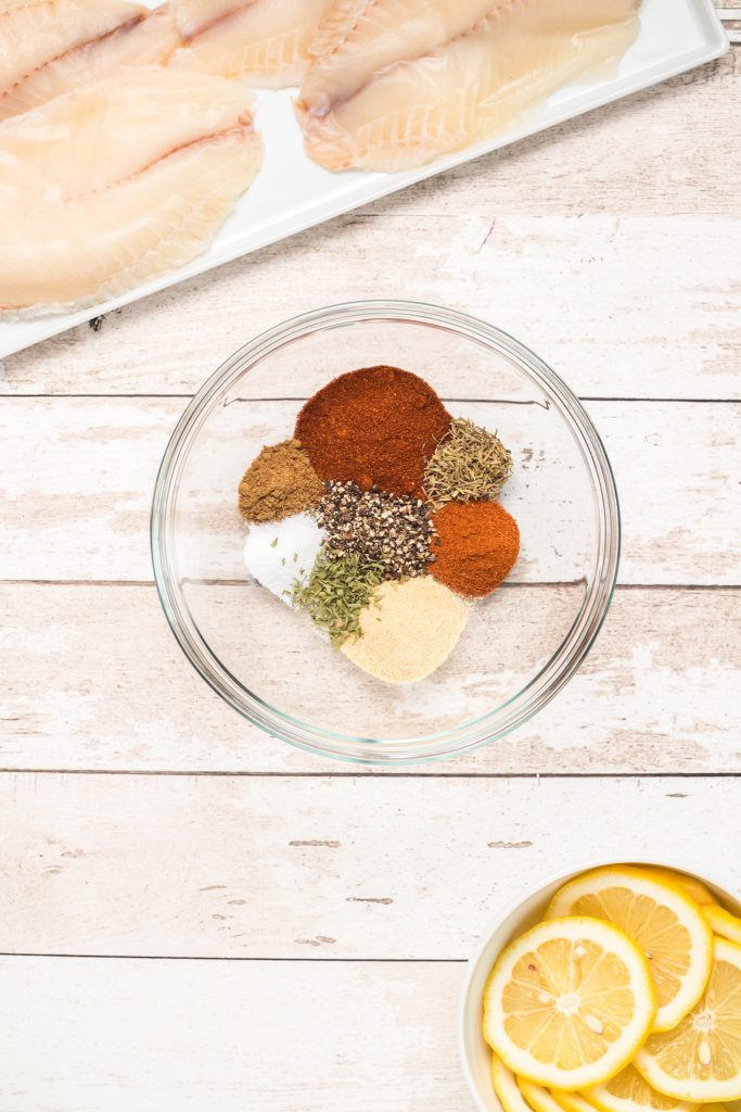 Easy Blackened Fish spices