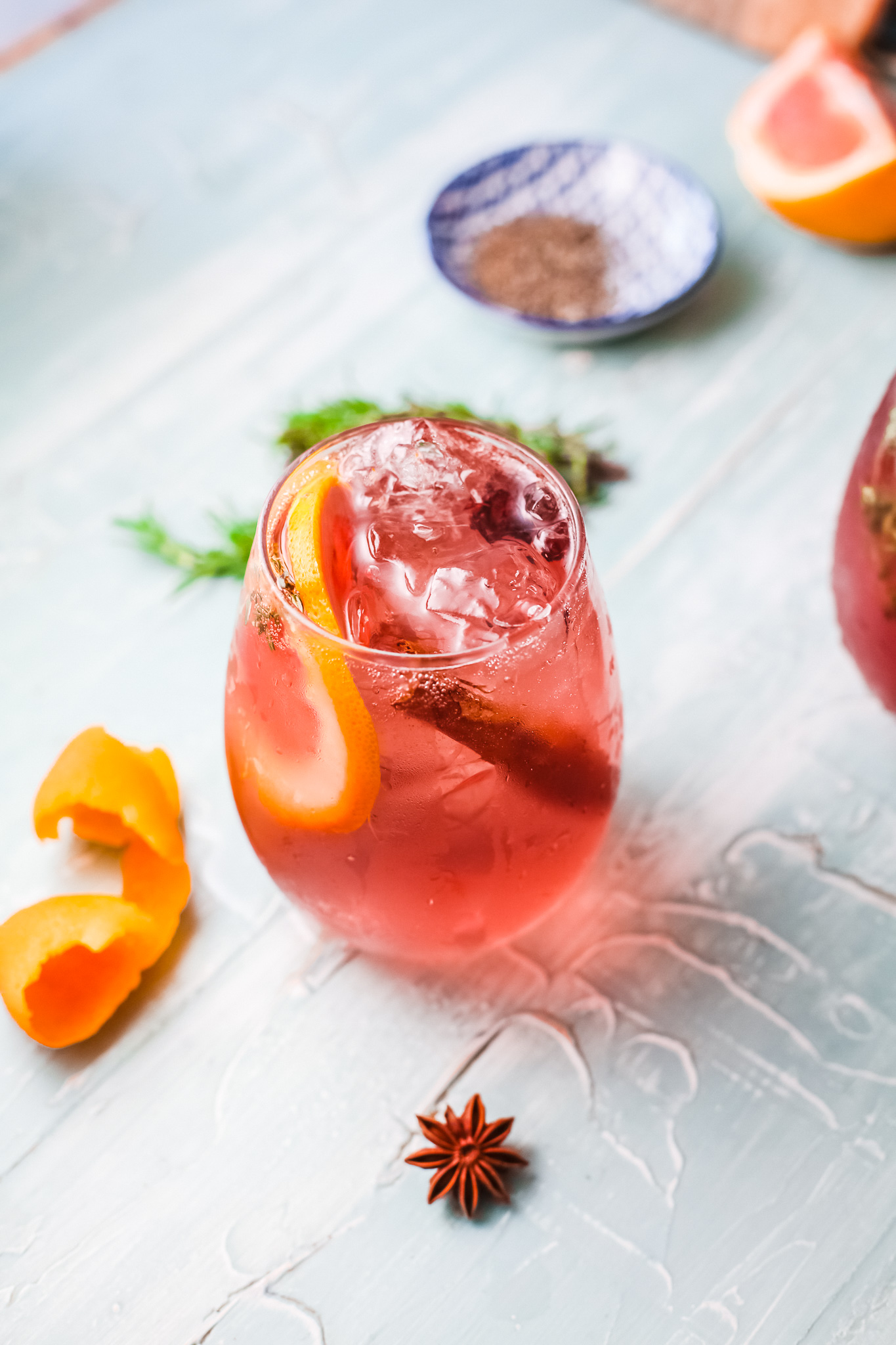 Cranberry Wine Spritzer in glass