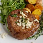 Beef Tenderloin Steaks with Creamy Blue Cheese Sauce