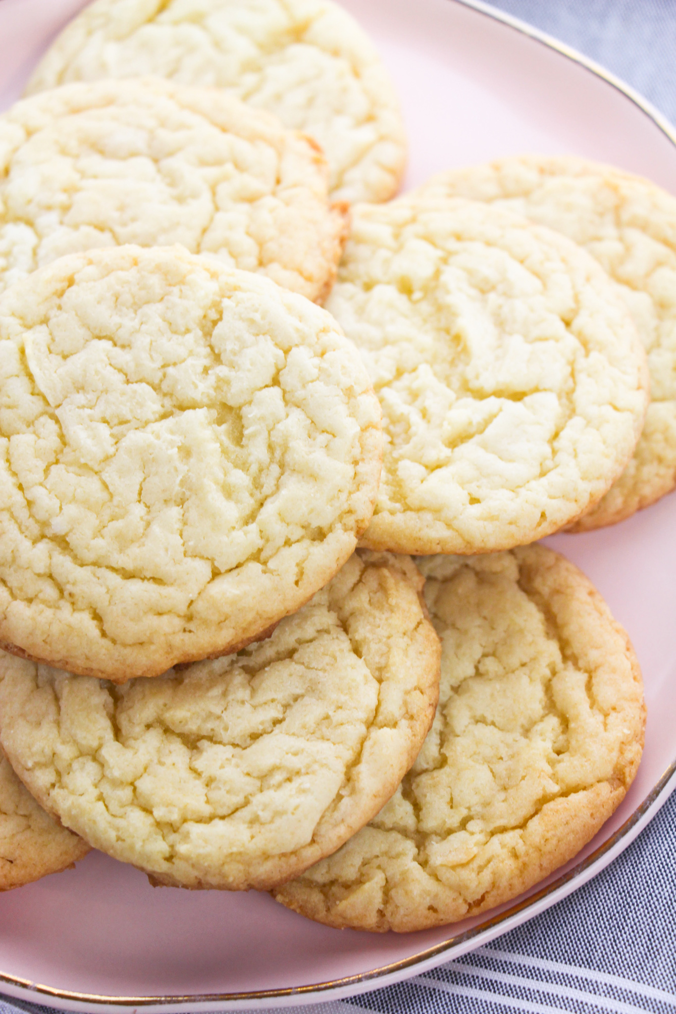 Easy Cake Mix Sugar Cookies on plate