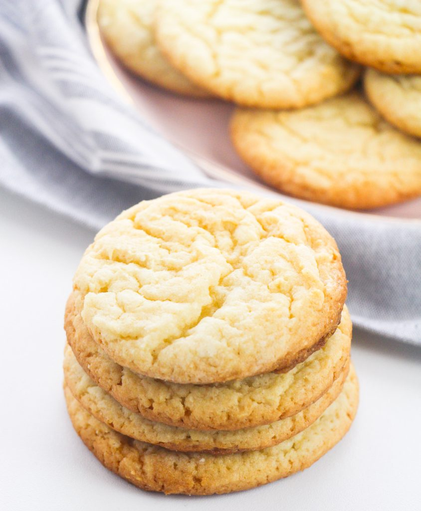 Easy Cake Mix Sugar Cookies stacked