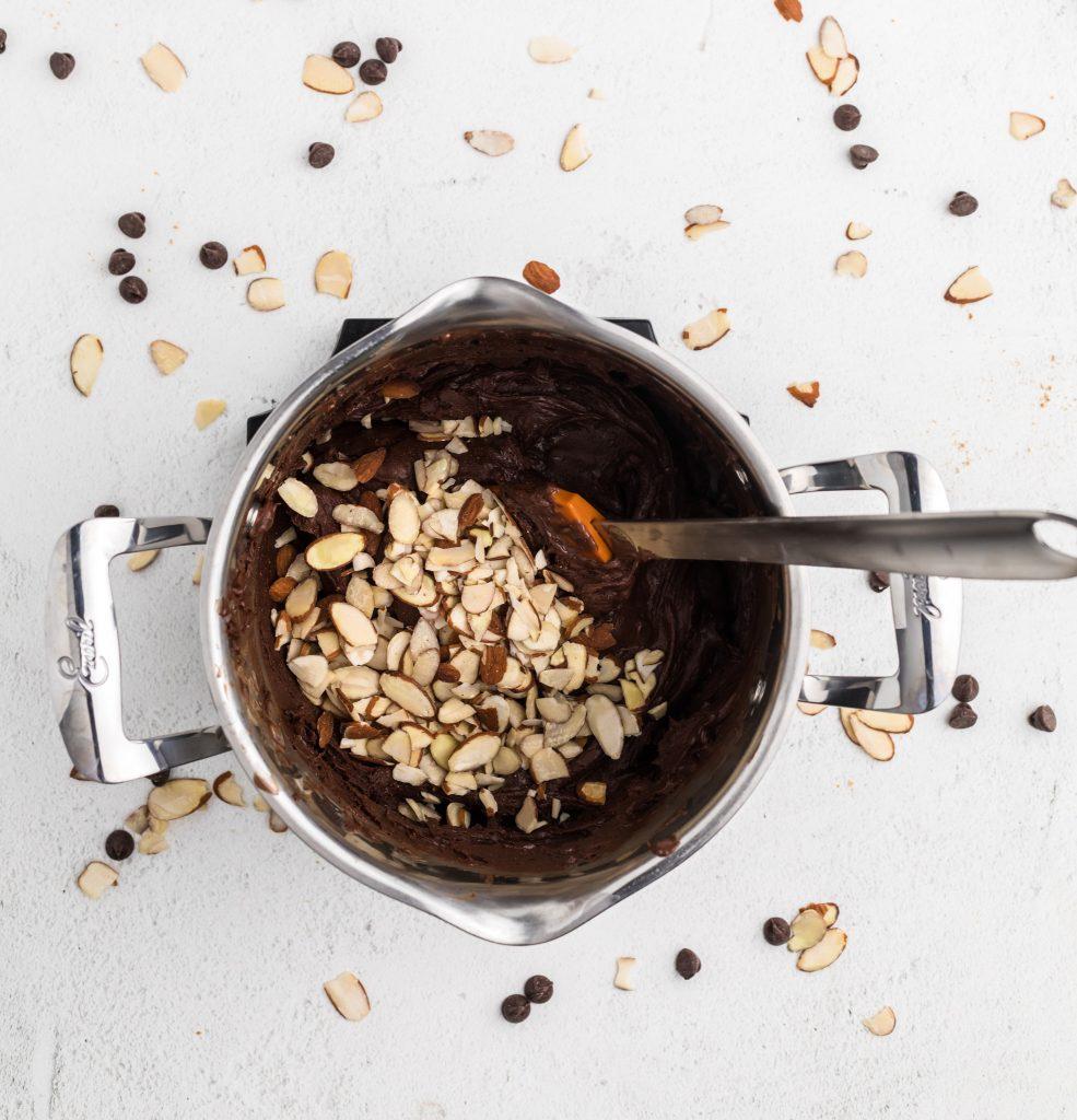 Easy Chocolate Fudge stirring chocolate