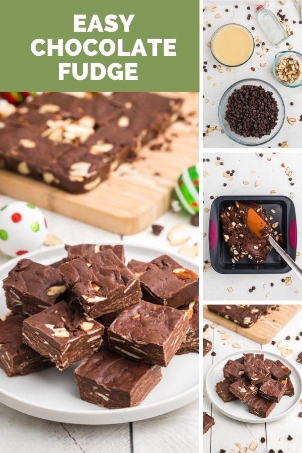 Easy Chocolate Fudge collage