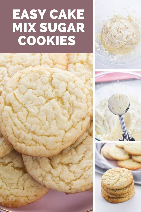 Easy Cake Mix Sugar Cookies collage