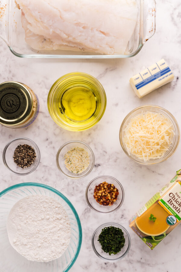 Pan Fried Garlic Butter Cod ingredients