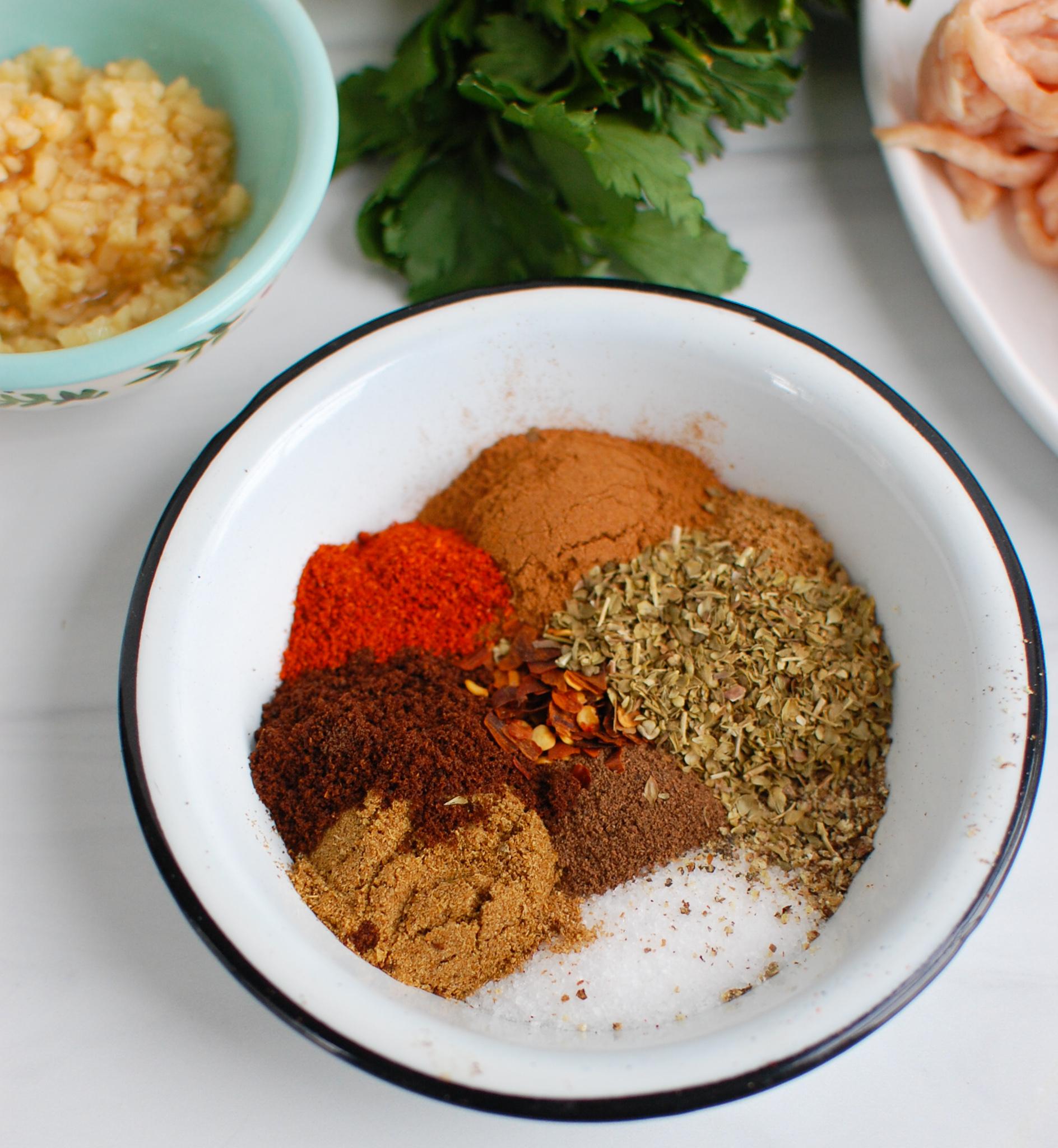 Chicken Kofta spices