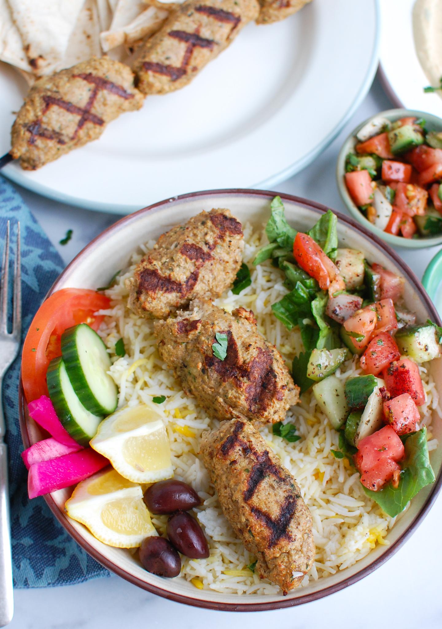 Chicken Kofta on rice bowl