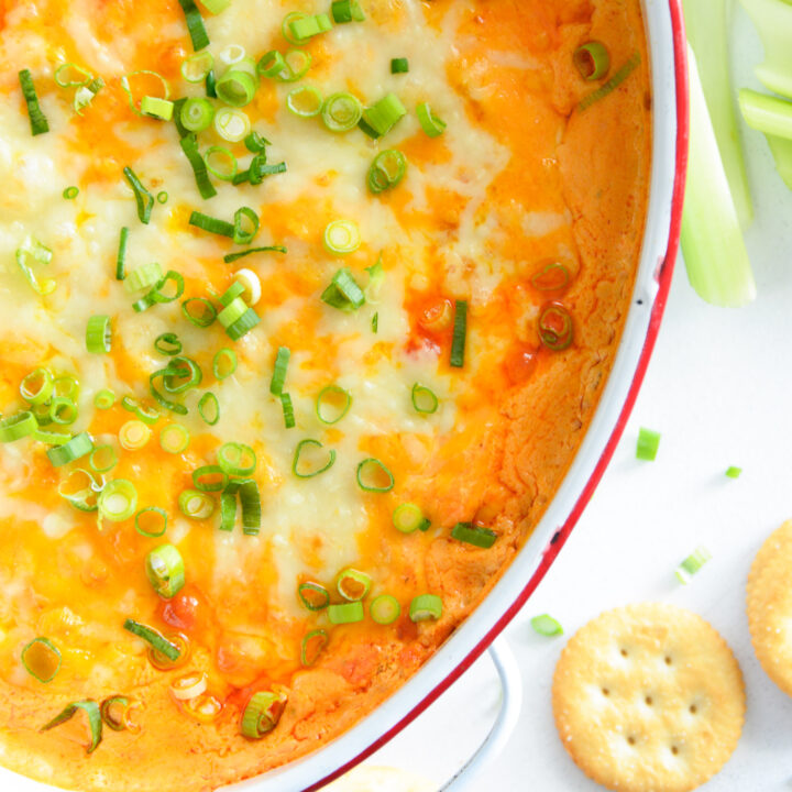How to Make Buffalo Chicken Dip with bowl