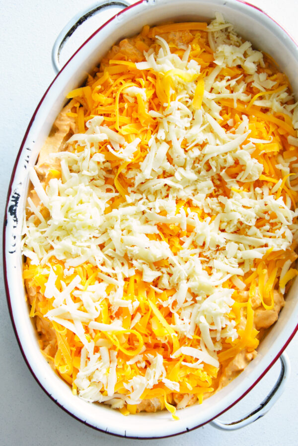 How to Make Buffalo Chicken Dip with cheese