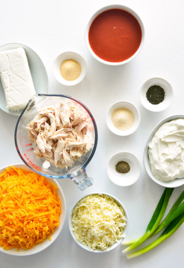 How to Make Buffalo Chicken Dip ingredients