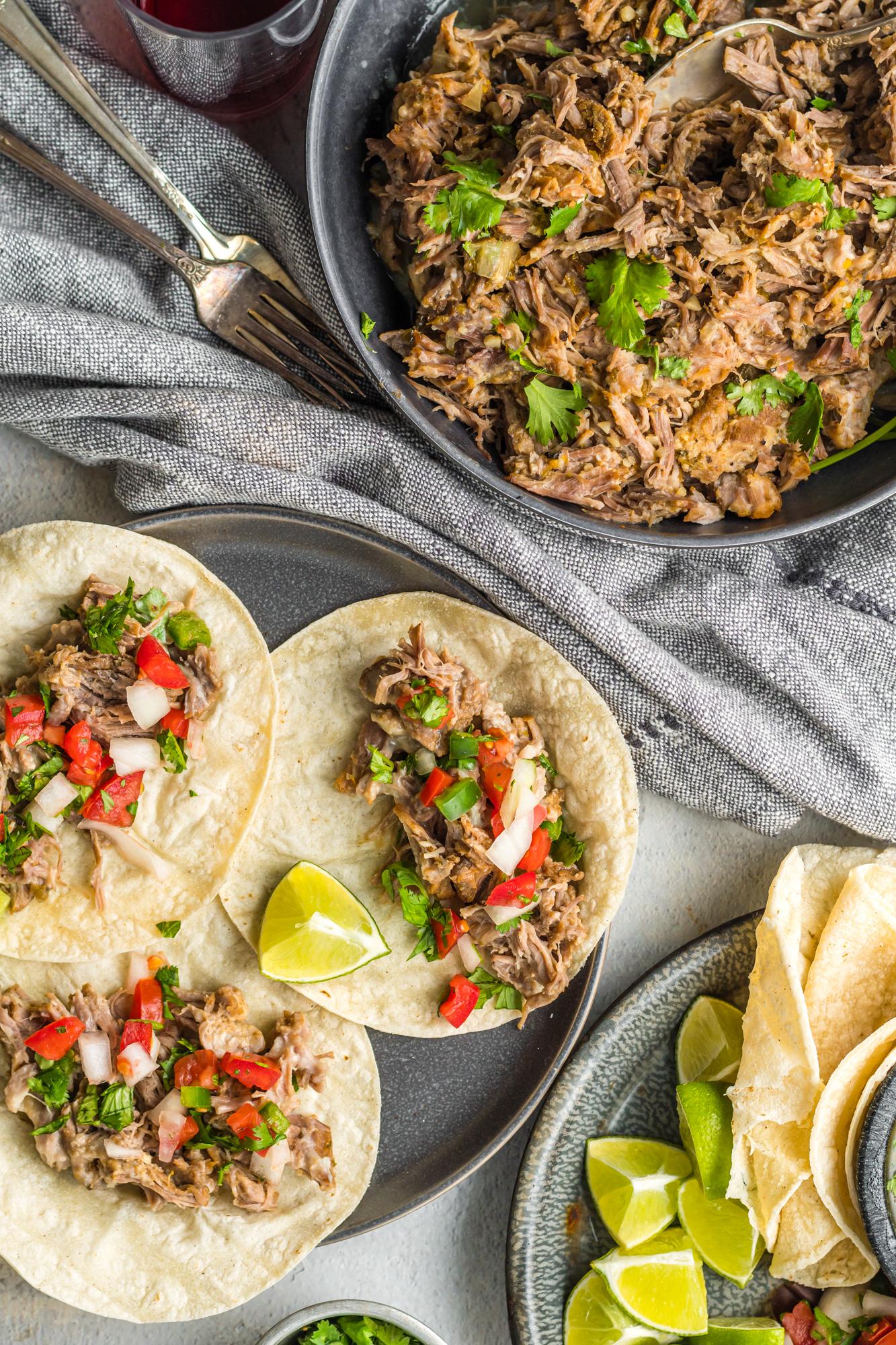 Instant Pot Pork Roast tacos