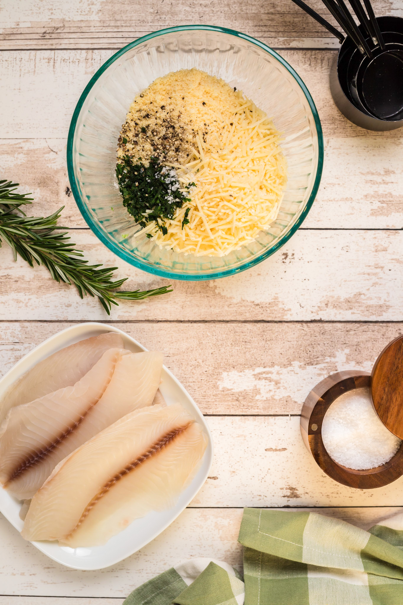 Parmesan Crusted Tilapia with herbs