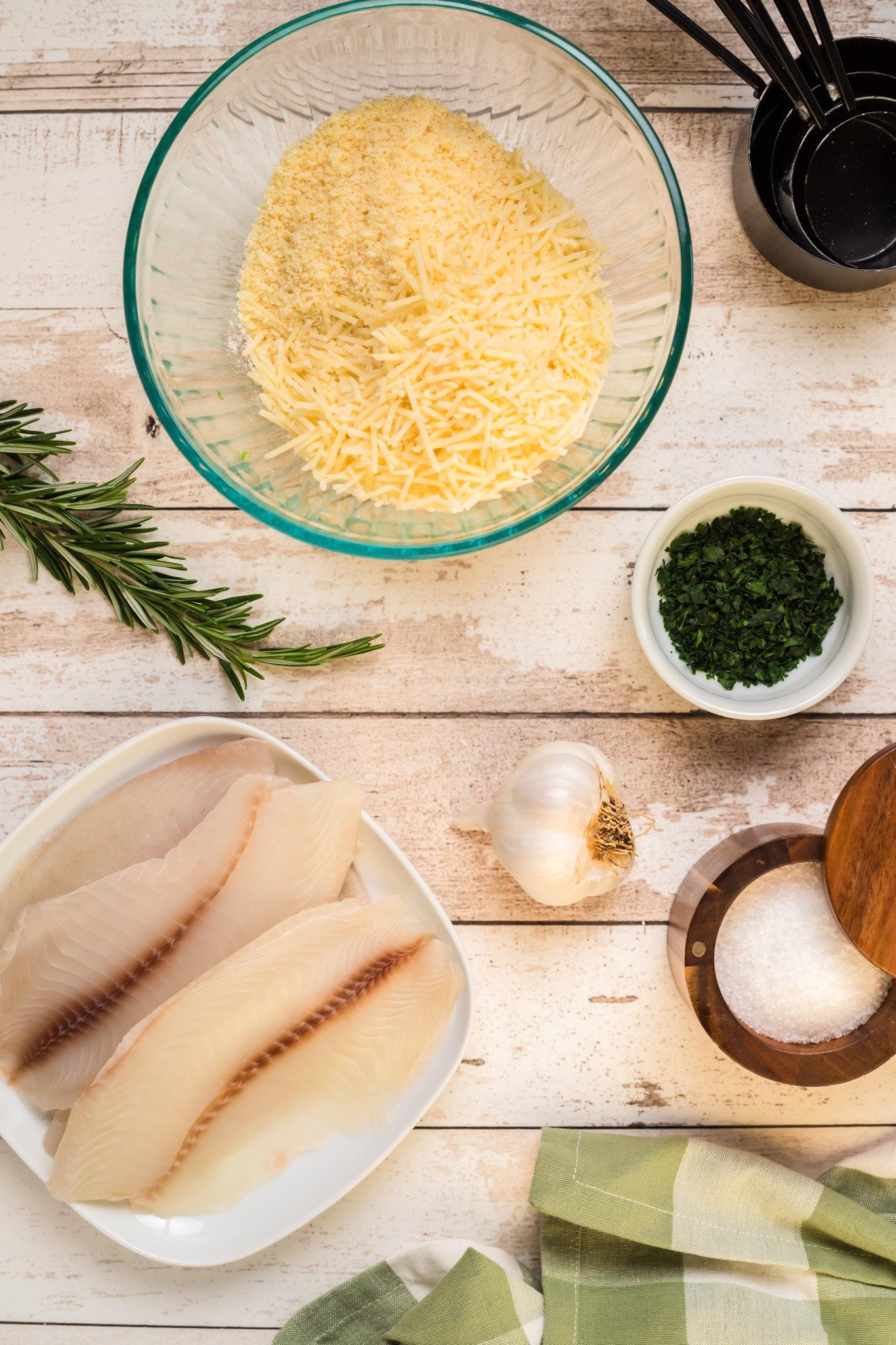 Parmesan Crusted Tilapia with flour