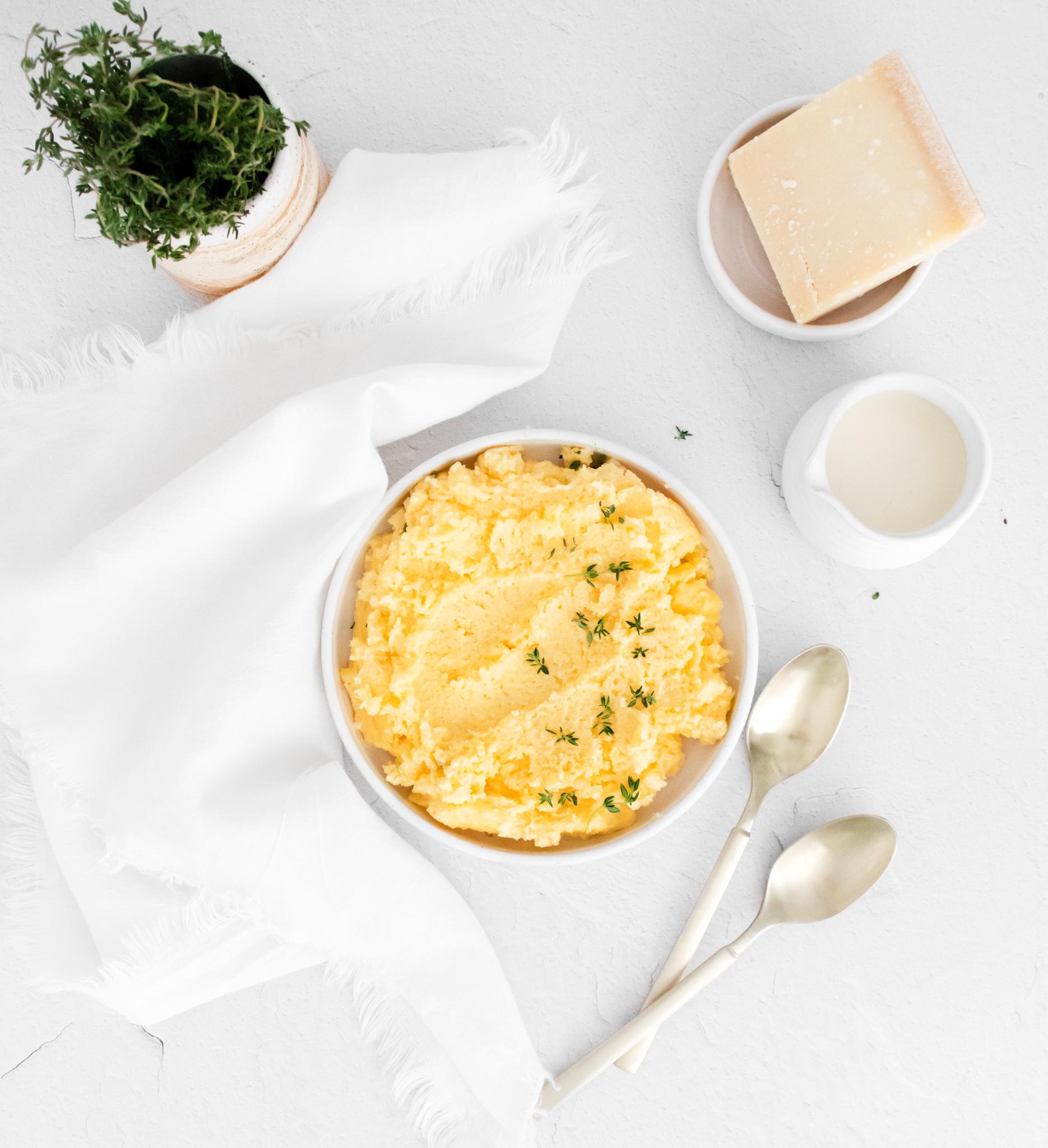 Creamy Polenta Recipe with Parmesan cheese.