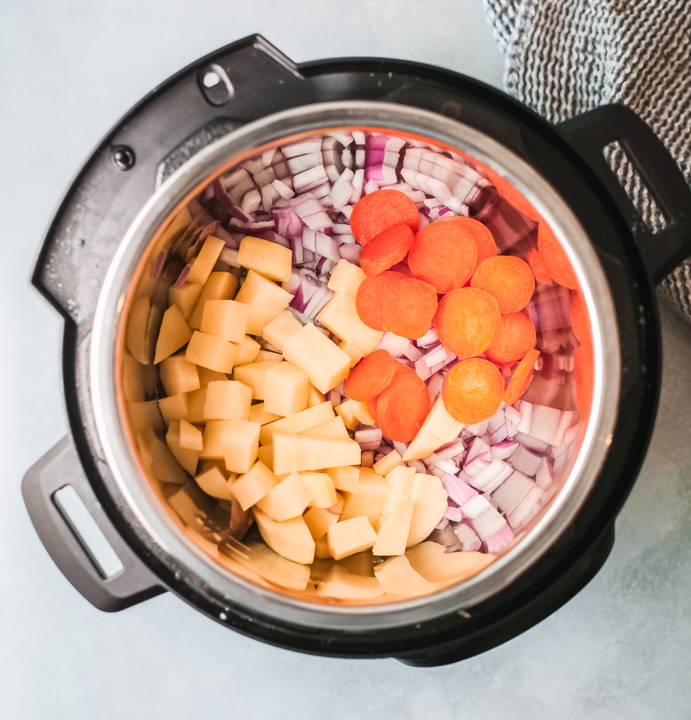 Instant Pot Bean Soup in the pressure cooker.