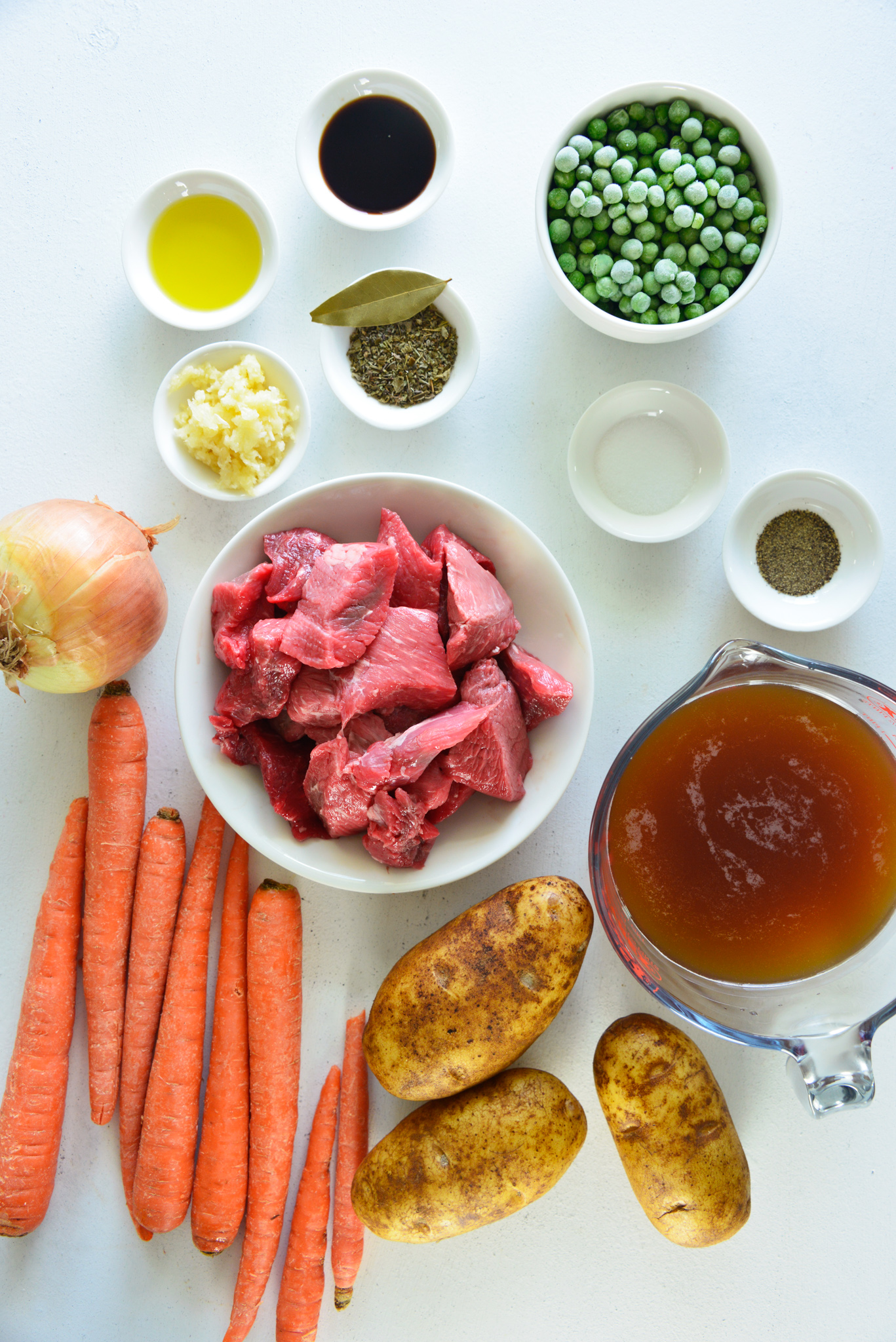 Instant Pot Beef Stew Recipe ingredients.