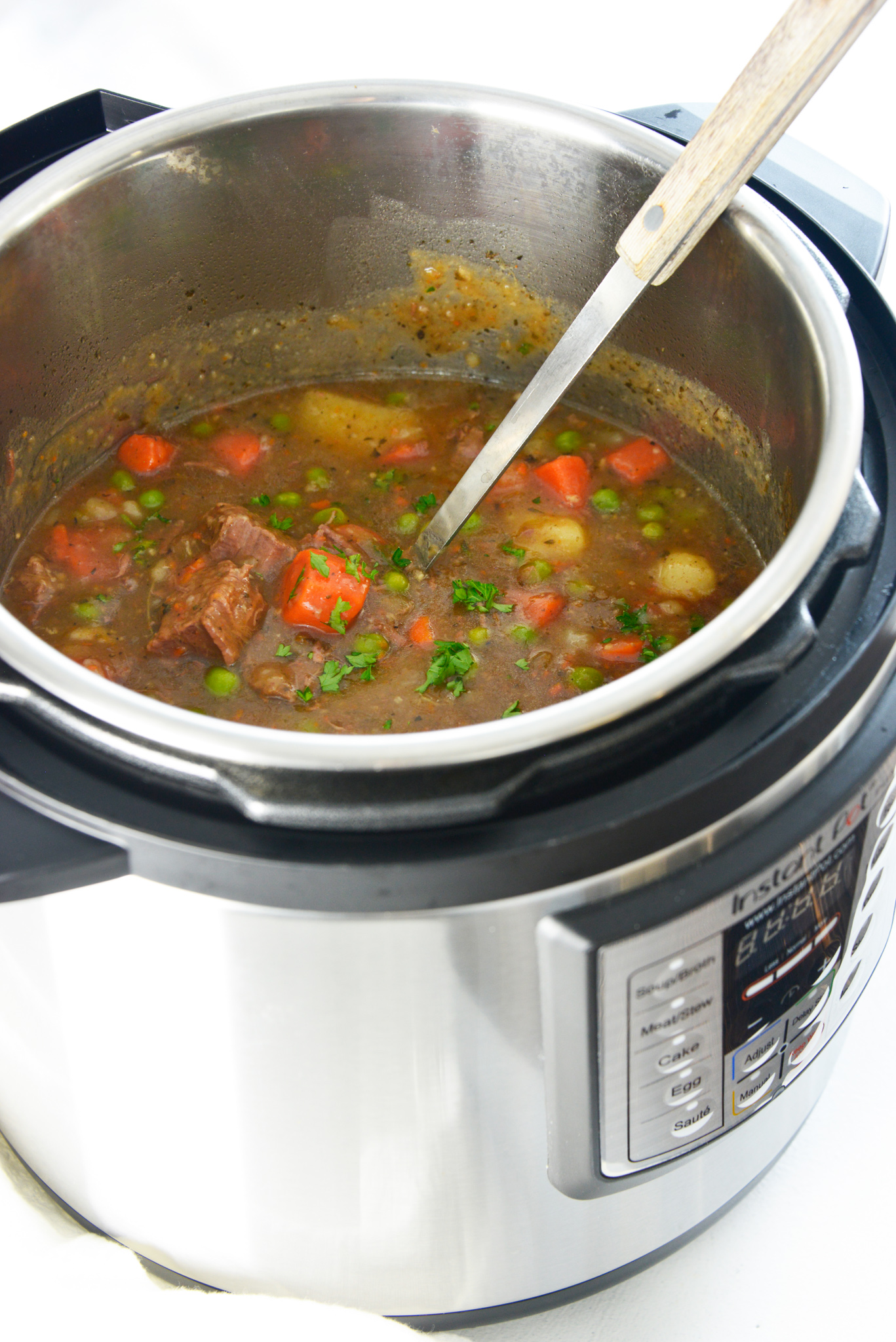 Instant Pot Beef Stew Recipe in the pressure cooker.