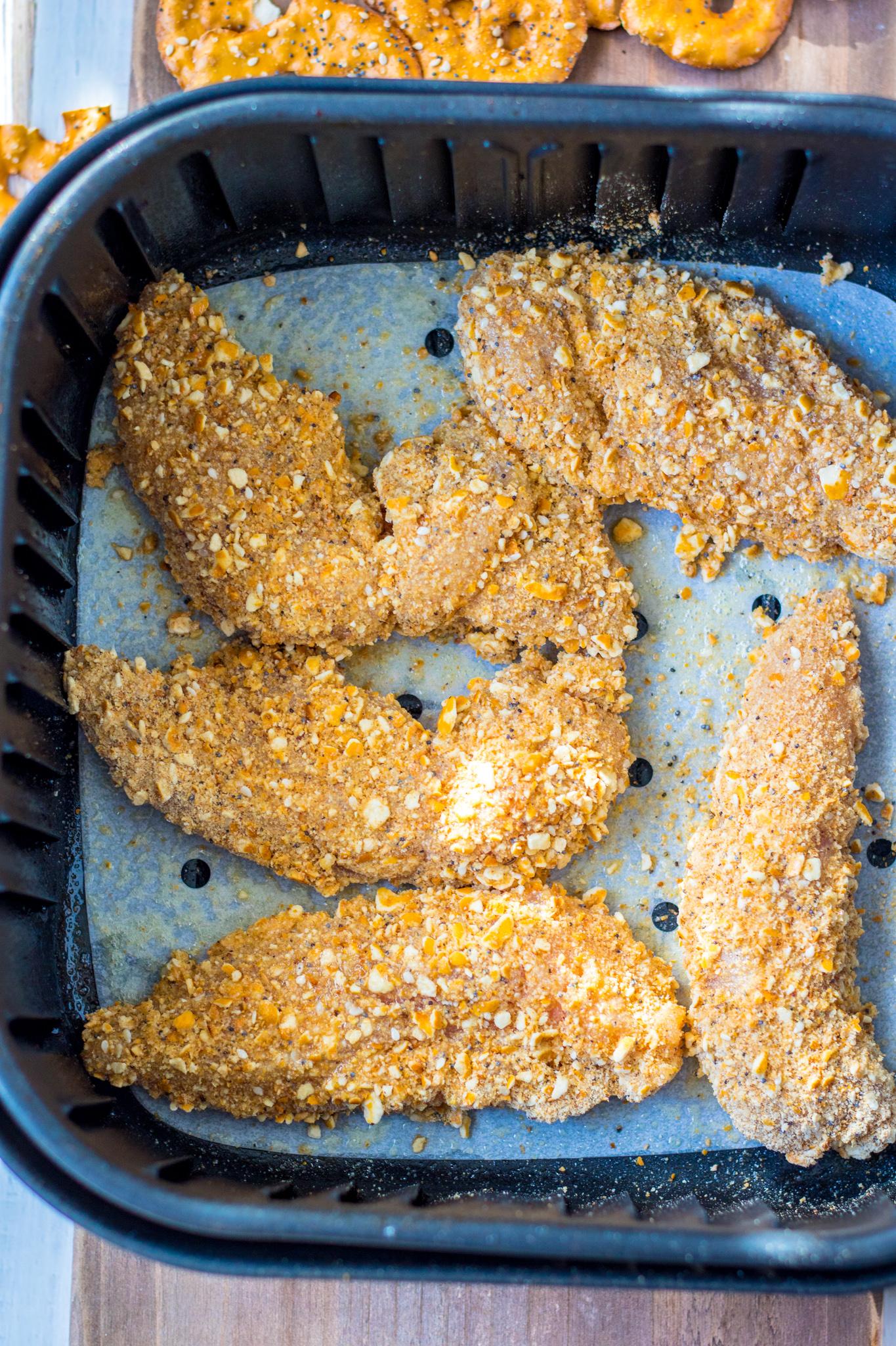 Pretzel Crusted Chicken Recipe in the air fryer.