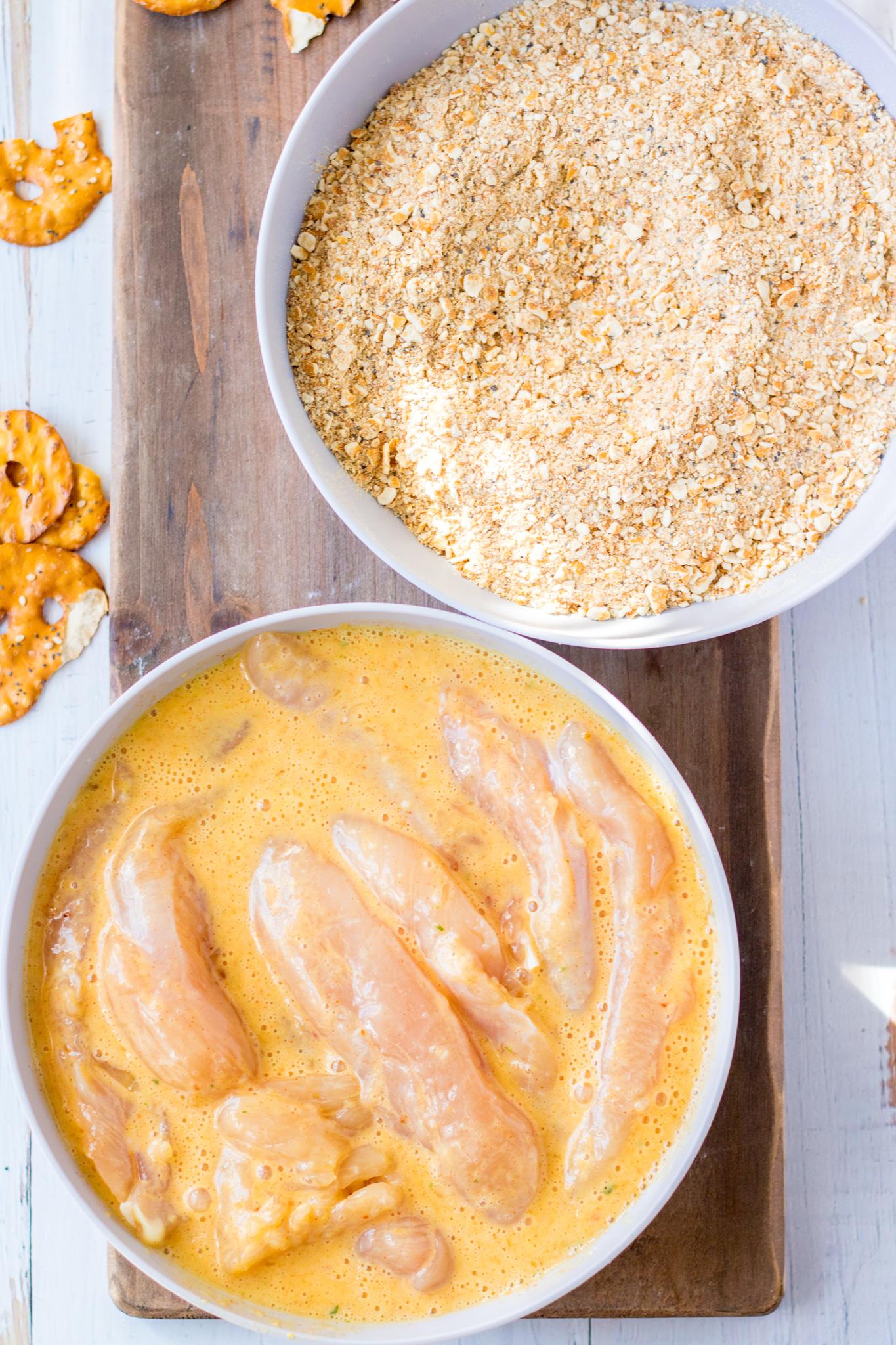 Pretzel Crusted Chicken Recipe ingredients.