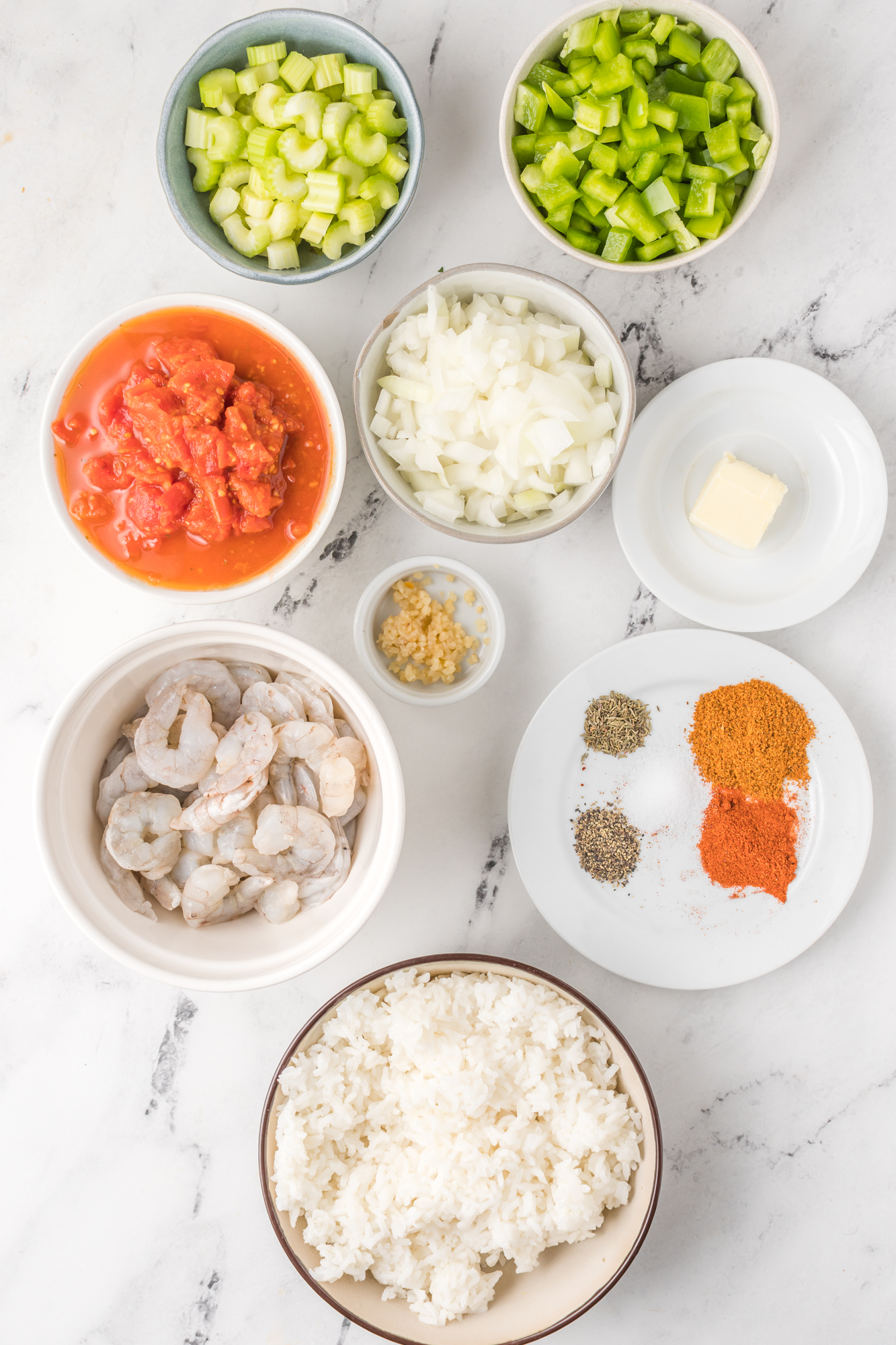 Shrimp Creole Recipe ingredients.