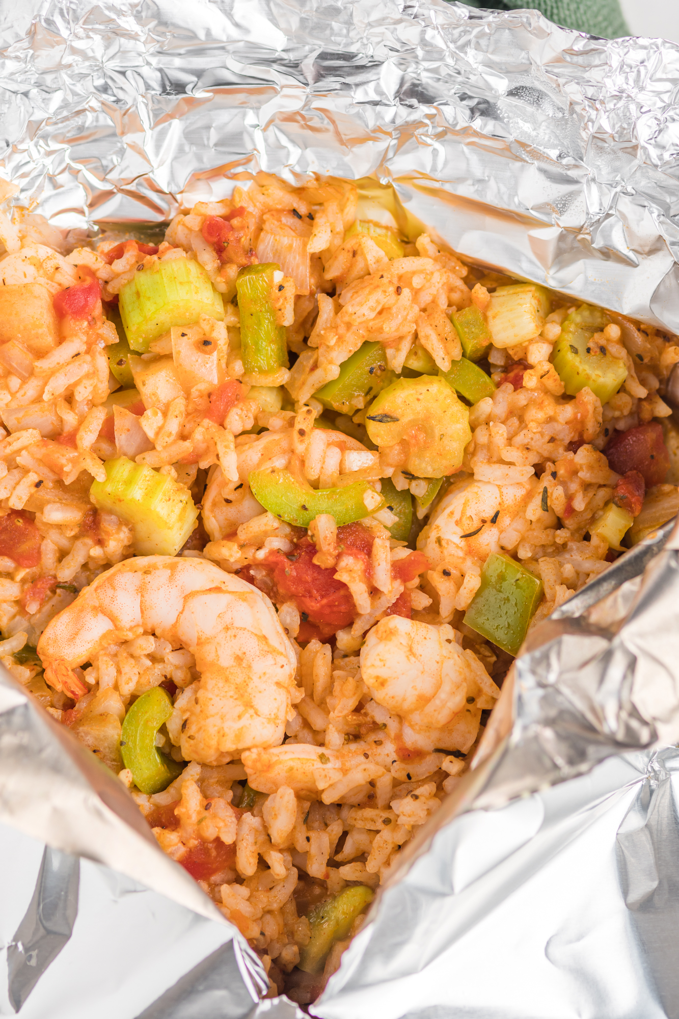 Shrimp Creole Recipe in packet.