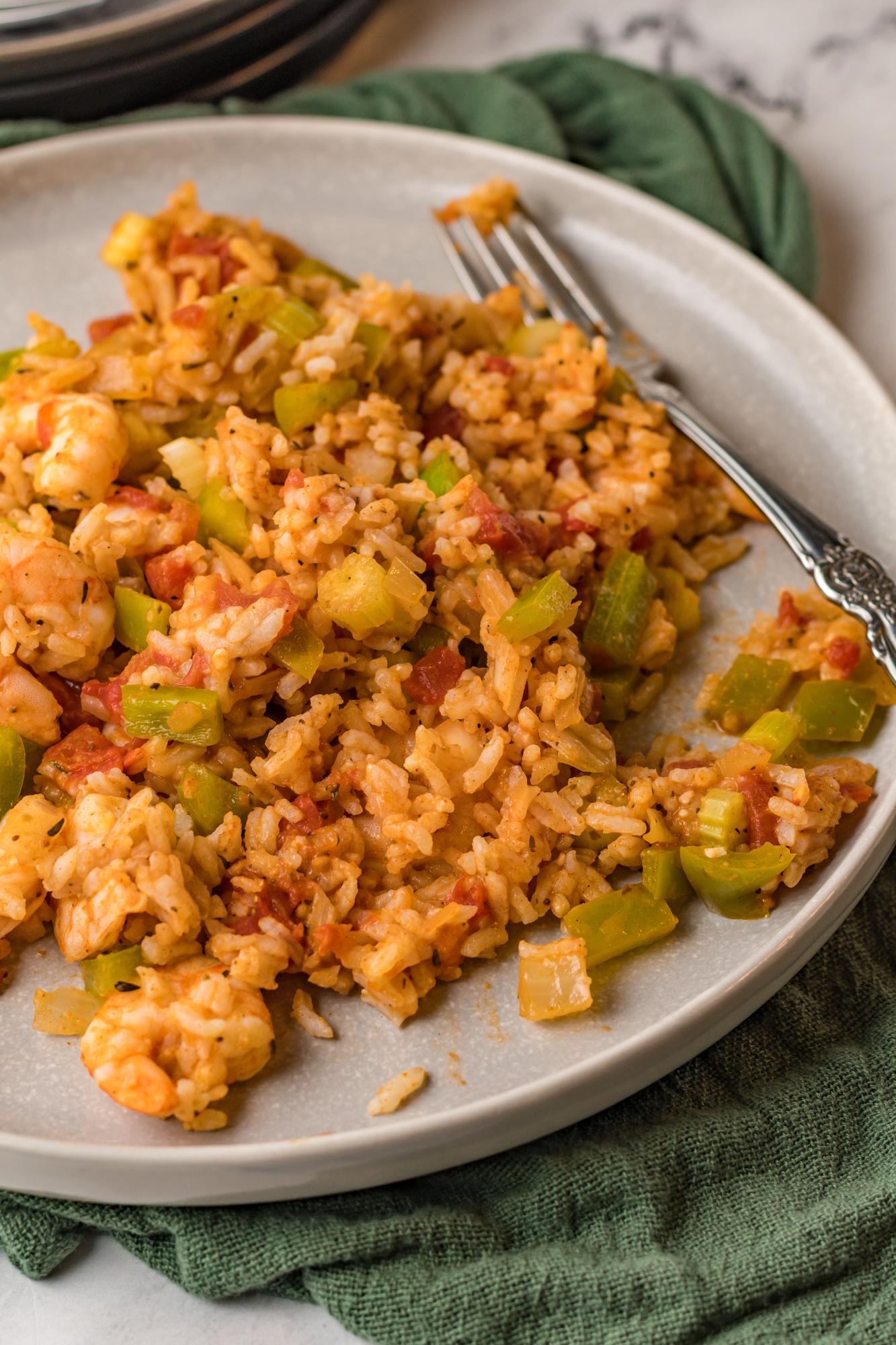 Shrimp Creole Recipe on plate