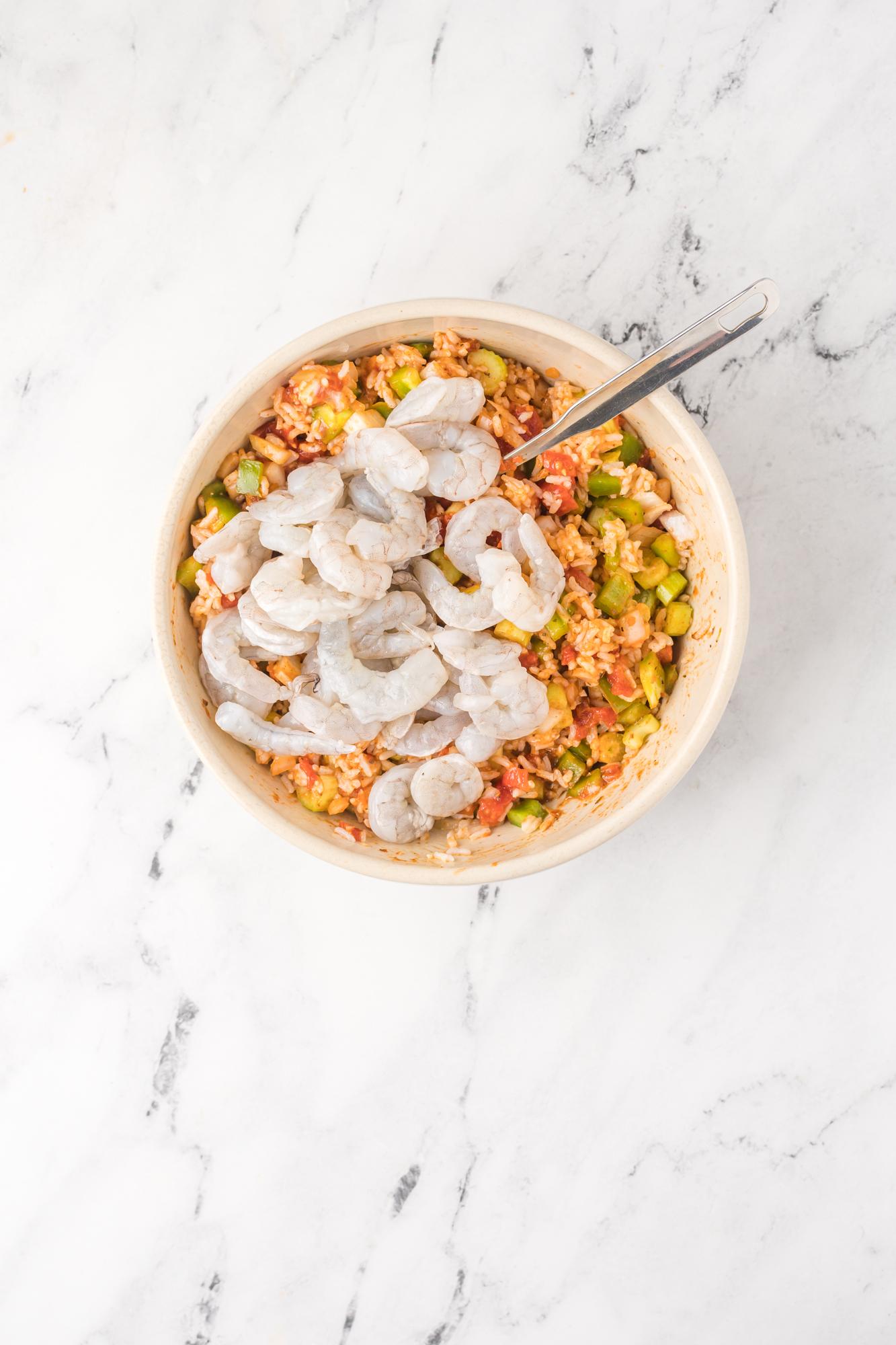 Shrimp Creole Recipe shrimp in a bowl.