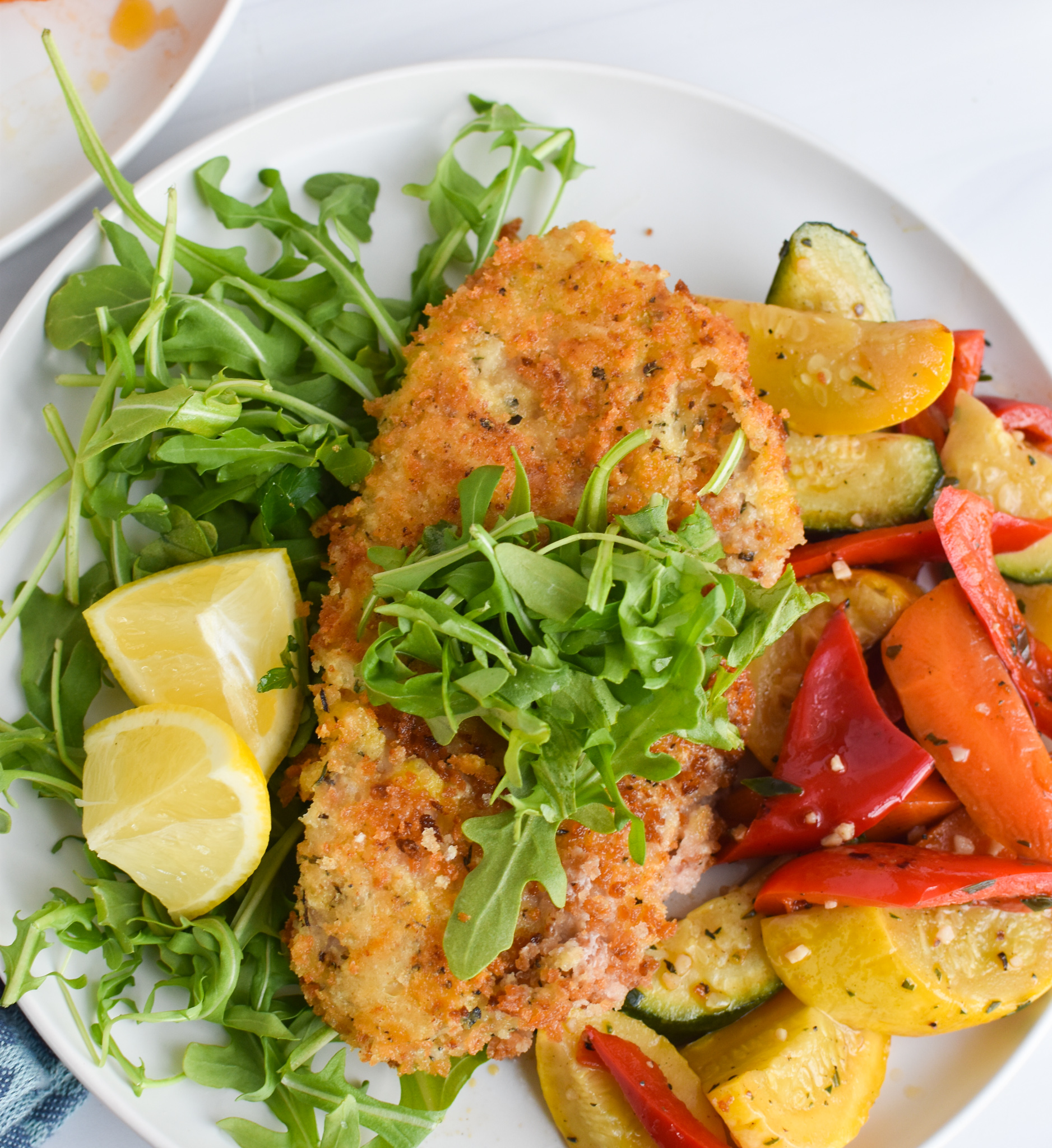 Easy Veal Milanese Recipe with fork.