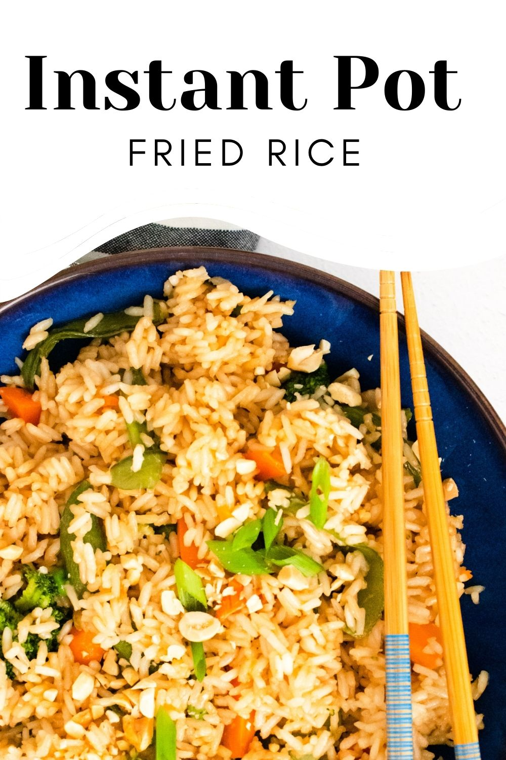 Instant Pot Fried Rice with logo.