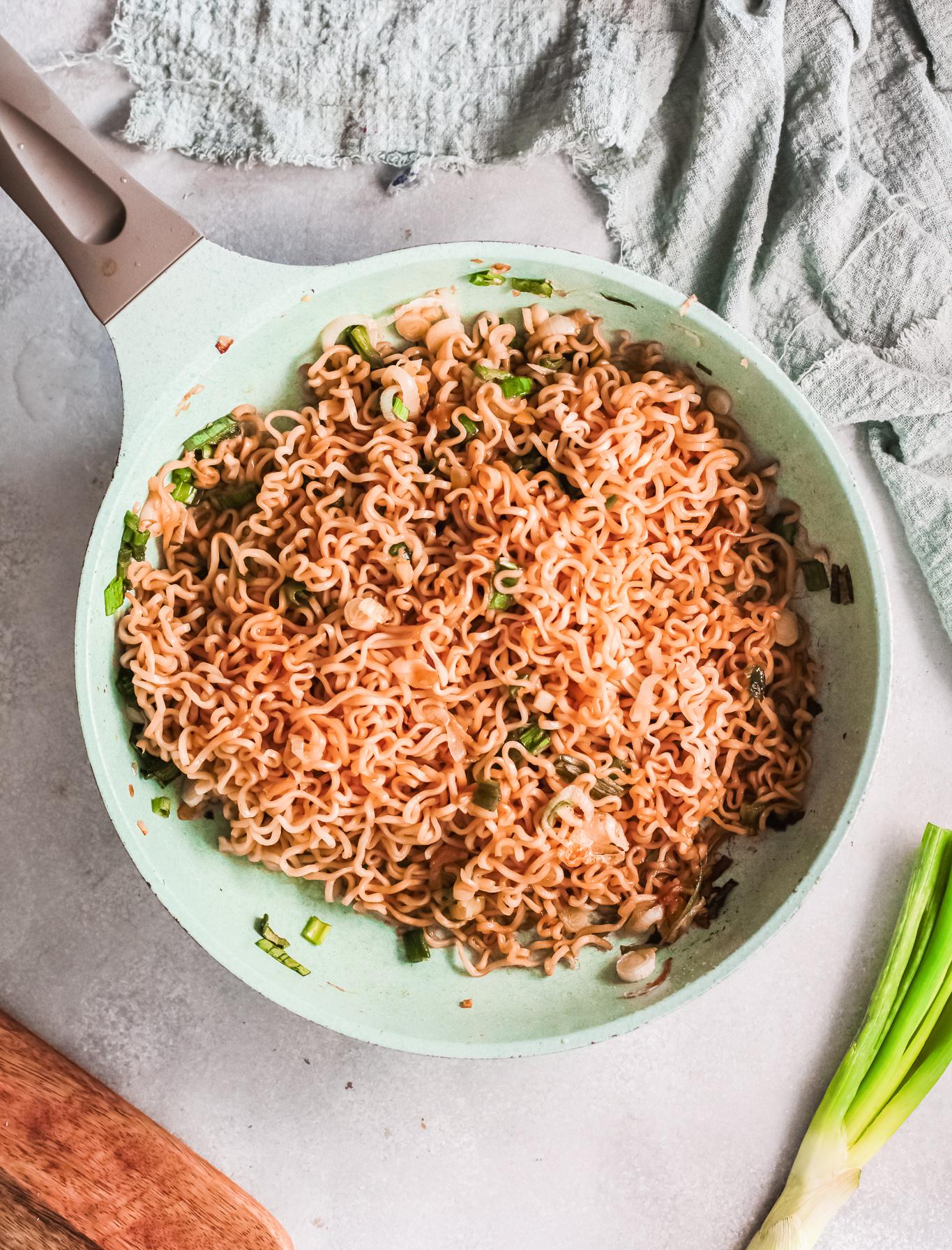Spicy Ramen Noodle Recipe in a pot.