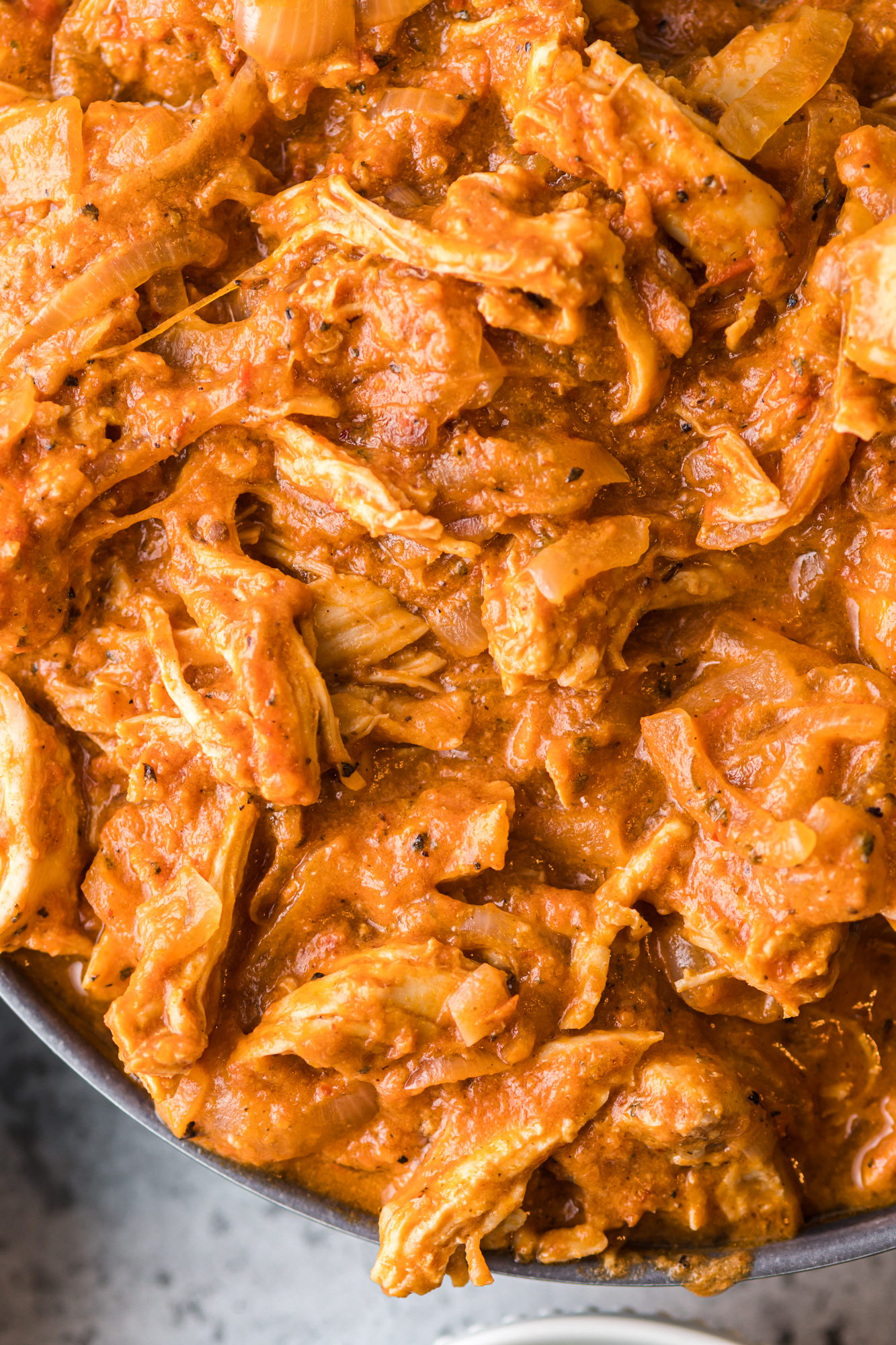 Chicken Tinga Recipe in pot.