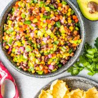 Cowboy Caviar Recipe in bowl.
