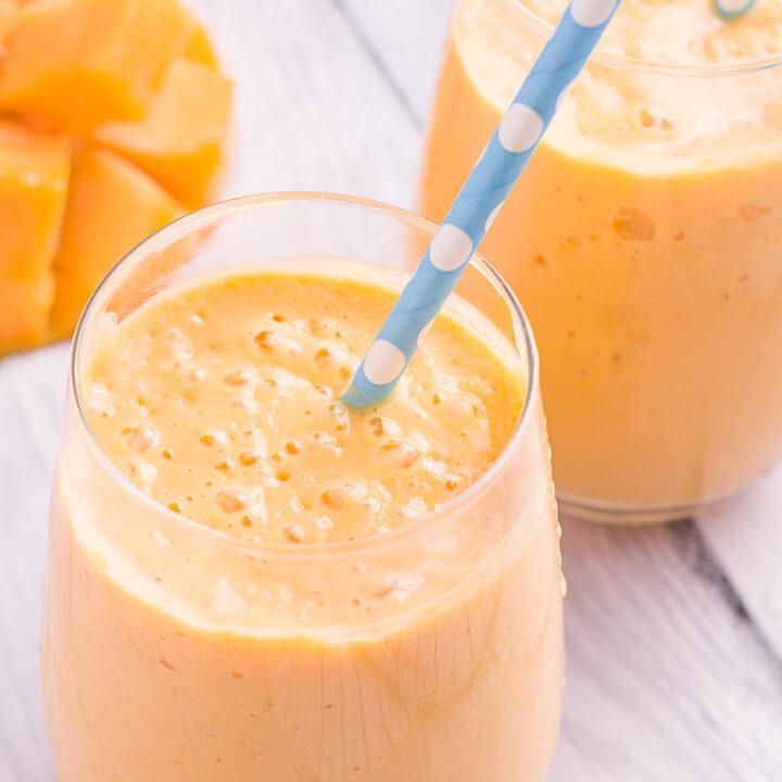 Mango Lassi Recipe in cup.