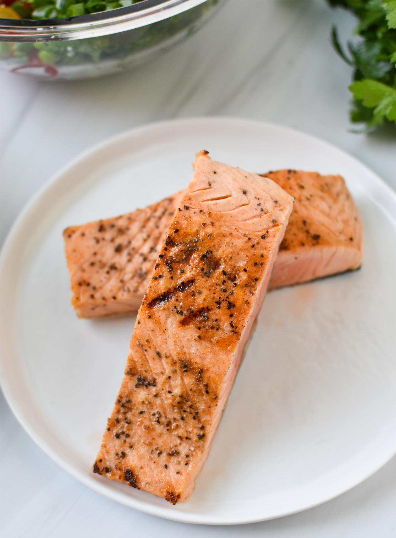 Mediterranean Salmon Bowl salmon.