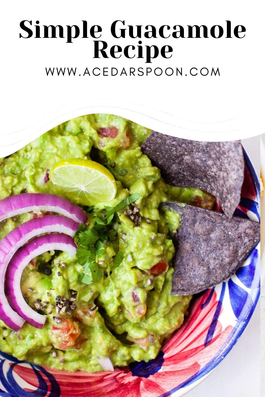 Easy Guacamole Recipe with logo.