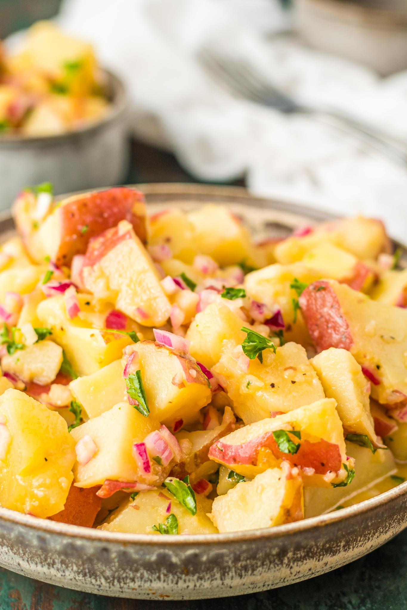 German Potato Salad Recipe with parsley.