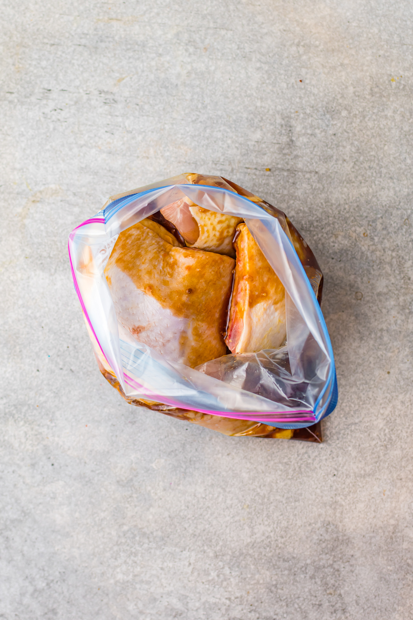 Grilled Huli Huli Chicken in a bag.