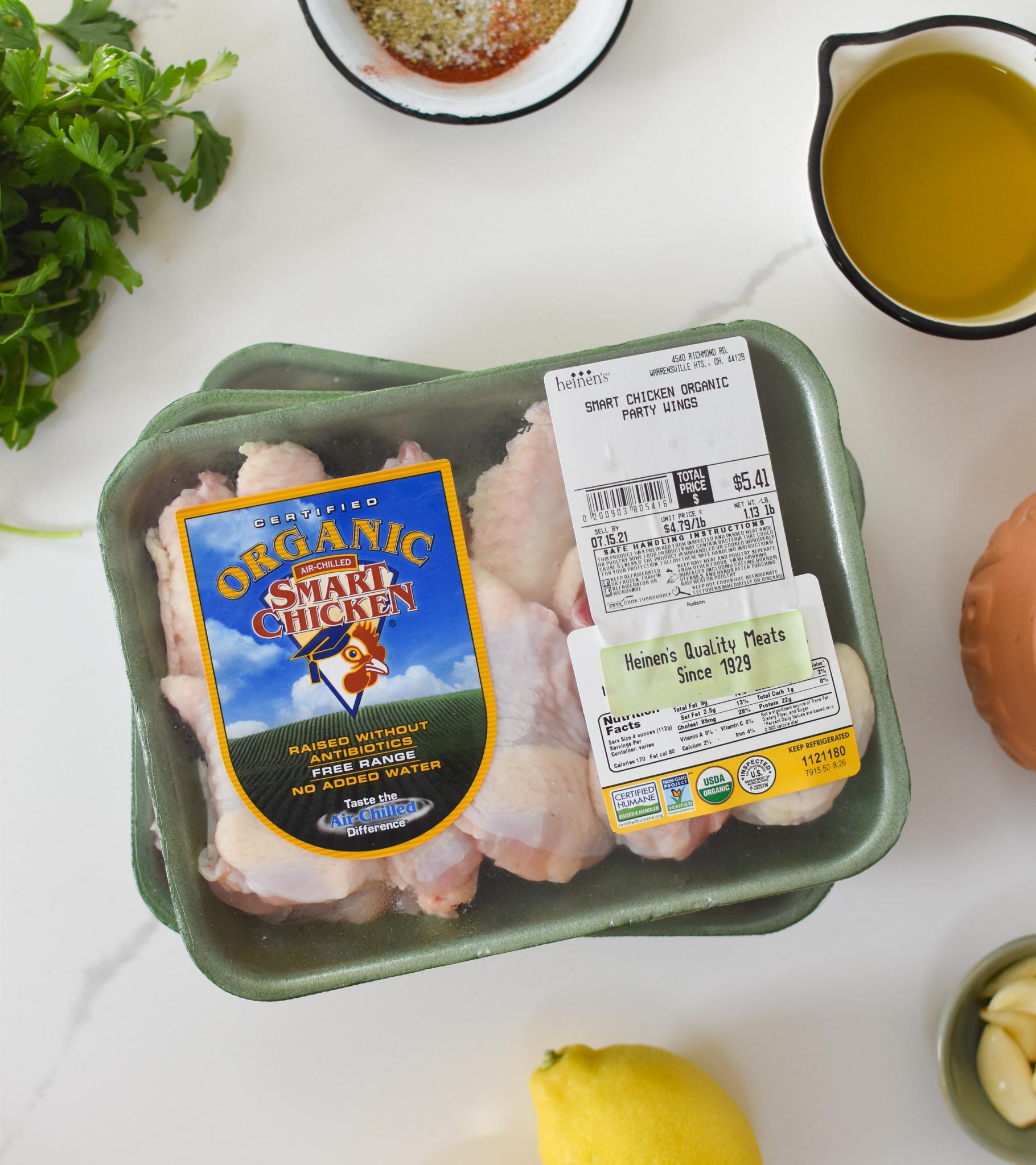 Grilled Mediterranean Chicken Wings ingredients.