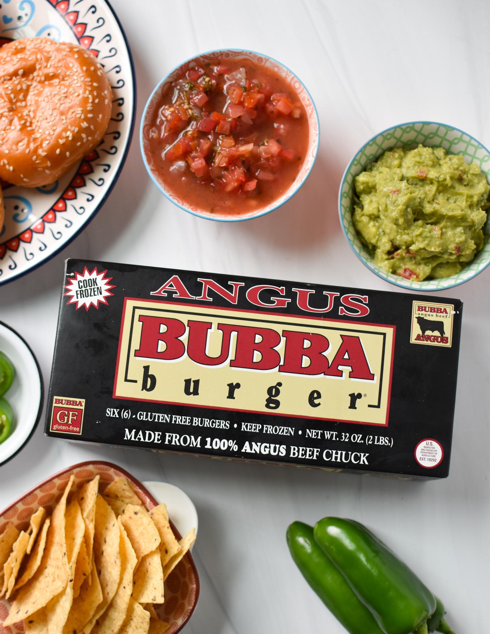 Tex Mex Burger ingredients.